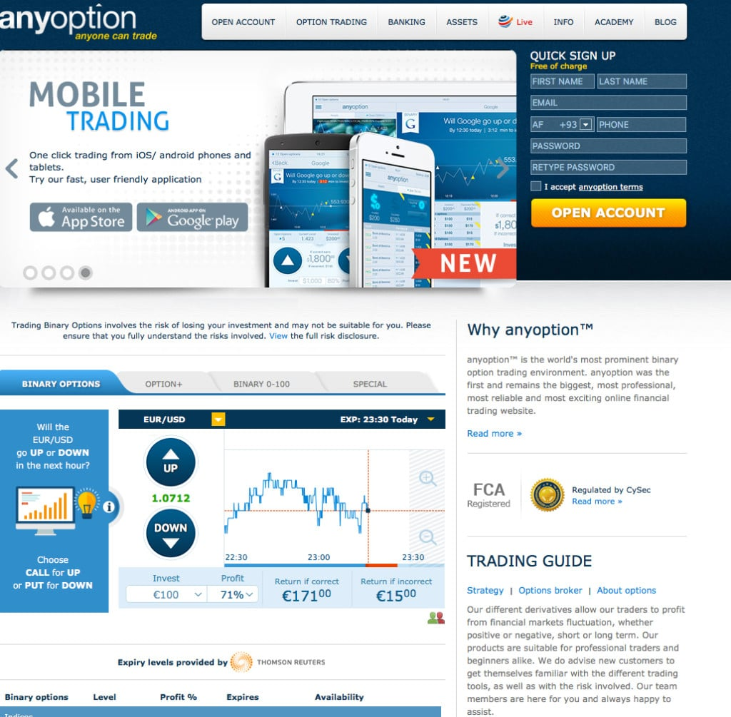 Binary option trading uk reviews