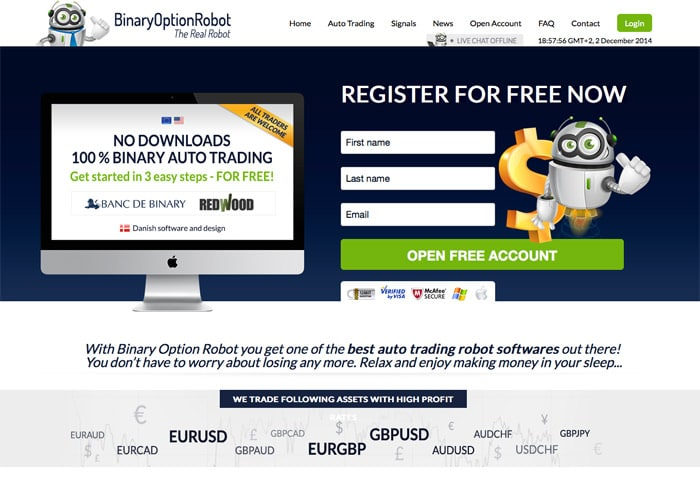 Binary options trading live signals robot