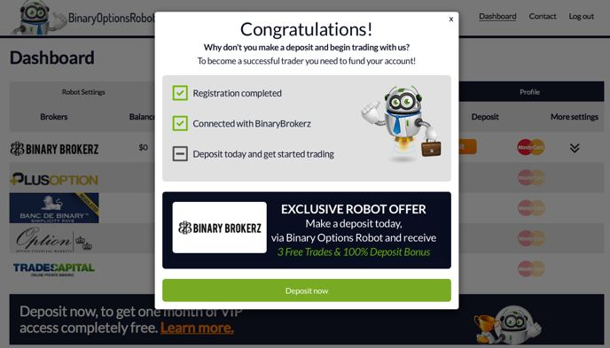 Review of binary options robot